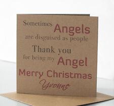 Personalised Angel Christmas Card Female Special Friend Mum Sister Daughter