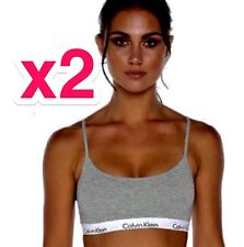 2 X Calvin Klein CK One Cotton Bralette Size S adjustable Thin Strap Bra BNWT