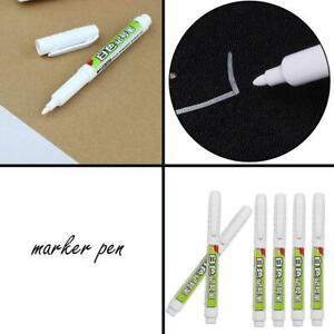 Permanent Marker White Bulk Oil-Ink Marker Pens Stationery Tip Low CL Fine K5P6