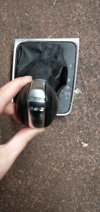 VOLKSWAGEN VW GOLF 2013 GEAR KNOB BLACK LEATHER 13-17 5G2713203 F UMF