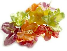 Mulberry Paper Lilies on a Stem 30mm Mixed Colours Card Making Craft Flowers