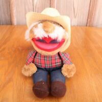 Vintage Shotgun Red Hee Haw Show 1980's Plush Stuffed Doll Country Farmer 12""