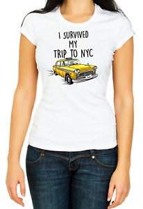 I Survived My Trip to NYC Women's 3/4 Short Sleeve T-Shirt F102