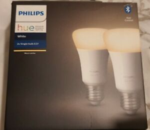 PHILIPS HUE White Bluetooth LED Bulb - E27, Twin Pack  Bluetooth