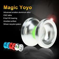 Best Magic Yoyo T6 Rainbow Aluminum Alloy Metal 8 Ball KK Bearing Silver S7T9