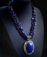 Lapis Lazuli necklaceChic Lapis Lazuli Necklace giftLapis Lazuli big pendant