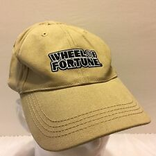 NWT Wheel of Fortune Khaki Hat Watcher Spin Million Gameshow White Sajak Game TV