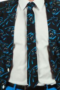 Carolina Panthers Football NFL Shinesty Repeat Logo Printed Neck Standard Tie