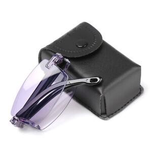 Presbyopia Eyeglasses Folding Reading Glasses Anti-UV Blue Rays Diamond-cut