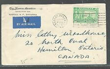 BAHAMAS (P2608B) KGVI ELEUTHERA 6D ON A/M COVER TO CANADA
