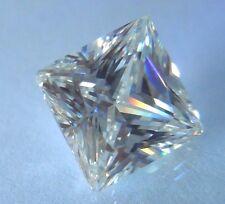 Perfect Princess Cut 8x8 mm 4.4 ct VVS D White Brilliant Lab Diamond Solitaire