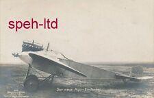 Originale Sanke Karte /   Flugzeug,  Der neue Ago Eindecker