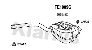 For Ford Galaxy Mondeo S-Max 2006> Rear Exhaust + Fittings - FE1009G