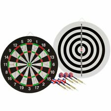 Abbey Darts Double-Sided Dartboard Including 2 Dart Sets Throwing Play Game