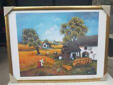 """Ljuba Stolfa """" la mietitura """" 63×48 cm quadro litografia  firmata"""