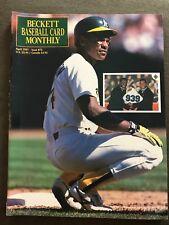 Rickey Henderson 1991 Beckett Baseball Card Monthly Issue #73 Ramon Martinez