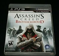 PS3 Assassin's Creed Brotherhood Video Game w/ Manual Case Disc Adult Owned  -V=