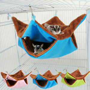 Pet Ferret Rat Squirrel Bird Hamster Hammock Hanging Cage Nest Bed House Toys L