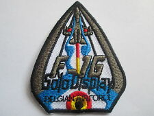 F-16 Solo Display Belgian Airforce Embroidered  Iron - On Patch P087