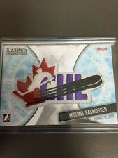 2016-17 Leaf In The Game Heroes and Prospects Michael Rasmussen CHL LOGO 1/1