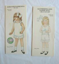 Ellery Thorpe Paper Dolls, Hobby House Press 1983 & 1986 Dorothy & Katherine-Ann