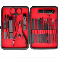 18pcs Manicure Pedicure Set Nail Clippers Callus Remover Kit Hand Foot Care