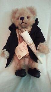 """NWT Limited Edition Hermann Spielwaren 16"""" George Washington Teddy Bear"""