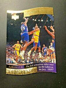 Kobe Bryant 1998-99 Upper Deck Memorable Moments Insert #4