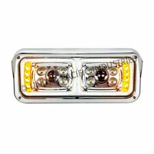 peterbilt kenworth freightliner 4x6 square led headlights universal turn signal