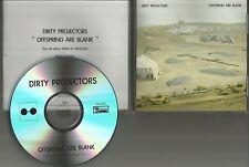 DIRTY PROJECTORS Offspring are blank TST PRESS PROMO DJ CD single 2012 USA MINT