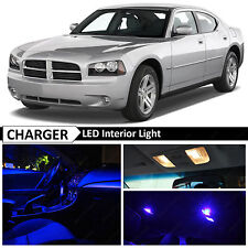 2006-2010 Dodge Charger Blue LED Interior + License Plate Lights Package Kit