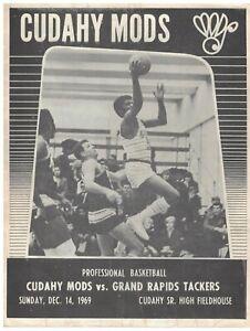 1969 Cudahy Mods Professional Basketball Team Program CBA