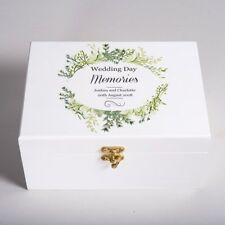 Personalised Mr and Mrs White Wedding Keepsake Box Memory Keepsake Wooden Gift