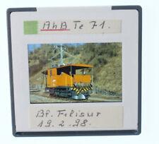 "Original KB Dia - E-Lok Te 71 der RhB - Schweiz Bhf. Filisur 1998 ""Zbc"