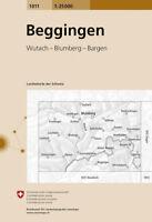Swisstopo 1 : 25 000 Beggingen, (Land-)Karte, Landkarte Jahrgang 2014