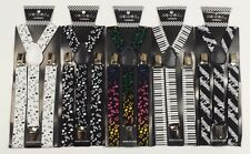 Music Note Piano Sheet Music Suspenders Adult Teenagers (Adjustable)