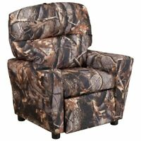 Flash Furniture Fabric Kids Recliner in Camouflage