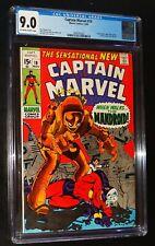 CAPTAIN MARVEL #18 1969 Marvel Comics CGC 9.0 VF/NM STAN LEE