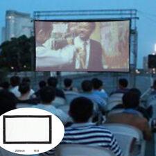 """200""""inch Canvas Projector Screen 4:3 16:9 Outdoor Cinema Portable + Storage Bag"""