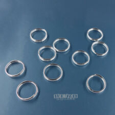 10PC Solid Sterling Silver 8mm 22 Gauge/ 0.65mm Split Jump Ring Connector #33129