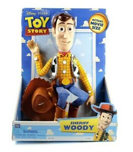 """RARE 16"""" Toy Story Sheriff Woody Actual Movie Size Non-poseable Non-talking"""
