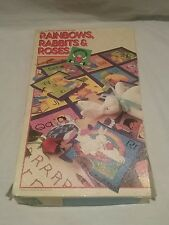 Vintage 1986 discovery toys rainbows,rabbits, and Roses phonic alphabet puzzle