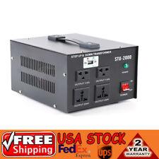 2000W Watt Voltage Converter Transformer Step Up/Down 110V to 220V Converter Usa