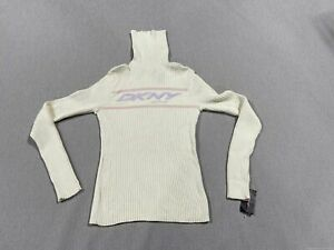 DKNY Active White Turtle Neck Size S w/ Tag