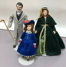 "5.5"" Vintage Bisque 1:12 Scale Gone With The Wind Scarlett Rhett Bonnie Detailed"
