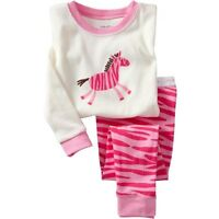 new girls pyjamas zebra Cartoon pattern cotton sleepwear cozy Breathable pajamas