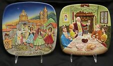 Royal Doulton Christmas in Mexico and Christmas in New England Collector Plates