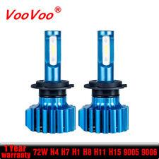 Pair H7 LED Headlight Bulb12V 6500K White 24V LED H4 H7 Auto Fog Lamp Voiture