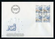 SCHWEIZ Nr.1264 VIERERBLOCK ESST SCHMUCK-FDC 2FR. FREIMARKE (133460)
