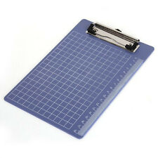 Pad Clip Holder Folder Plastic Clipboard Blue for paper A5 LW